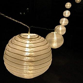 lampion lichterkette mit 15 led lampions 15 cm garten. Black Bedroom Furniture Sets. Home Design Ideas