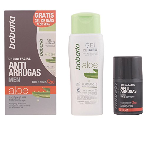 Babaria Aloe Vera Anti Age Face Cream For Men 50ml and Free Aloe Vera Shower Gel 100ml