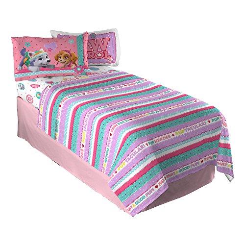 nick jr paw patrol girls best pup pals twin sheet set new ebay. Black Bedroom Furniture Sets. Home Design Ideas