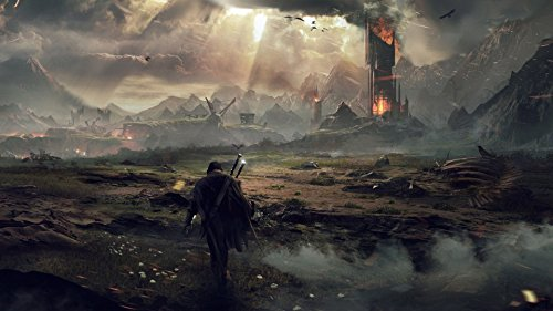 Middle Earth Shadow of Mordor Poster PC Fabric Silk Wall Decals Game Posters Prints 15x27