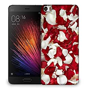 Snoogg White And Red Petals Designer Protective Back Case Cover For SONY XPERIA M5