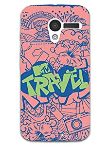 Moto X Back Cover - MTV Gone Case - Travel Is My Drug - Peach - Designer Printed Hard Shell Case