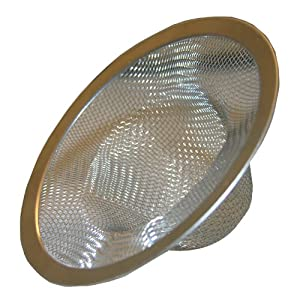 LASCO 03-1384 304 Stainless Steel Mesh Bathtub Strainer with Chrome Plated Ring