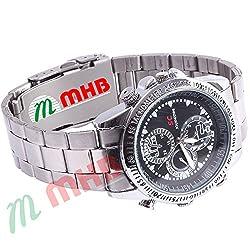 M MHB Wrist watch 16gb Memory Hidden Recording While recording no light Flashes. Still Wrist Watch Camera Inbuild .Original Brand Only Sold by M MHB .