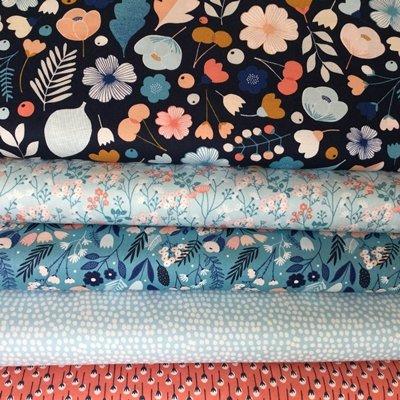 FLORAL FABRIC - Floral Millefleur - Bundle - DASHFB31 - 5 Fat Quarters - 100% Cotton - Heritage Fat Quarter Bundle