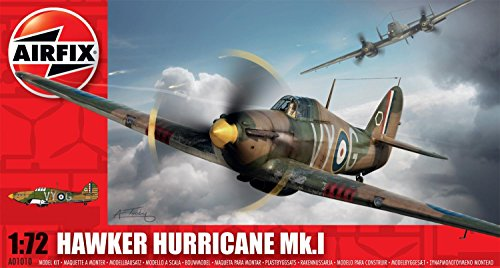 Airfix Hawker Hurricane MkI Model Kit (1:72 Scale) - 1