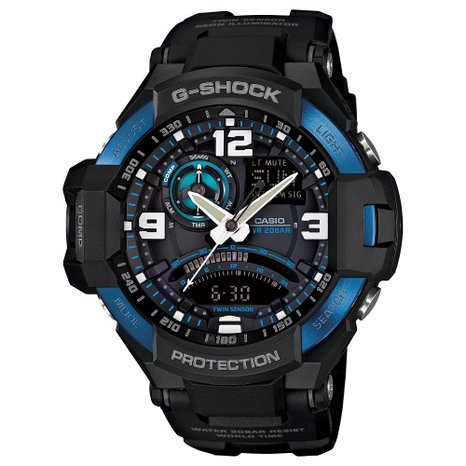Casio G-Shock GA1000-2B Master of Gravity Stylish Black / One Size Men's Watch