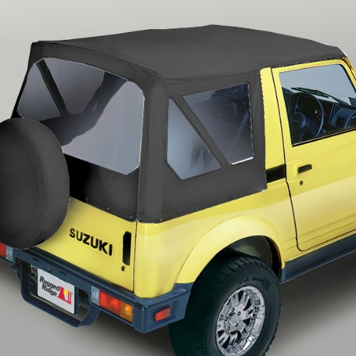 Pavement Ends by Bestop 51380-52 White Denim Replay Replacement Soft Top Clear Windows; No Door Skins Included for 1995-1998 Suzuki Sidekick