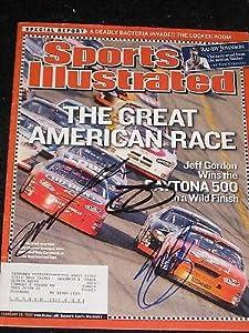Jeff Gordon Stewart Signed Sports Illustrated Nascar B - Autographed NASCAR Magazines by Sports Memorabilia