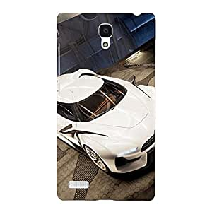 Jugaaduu Super Car Aston Martin Back Cover Case For Redmi Note