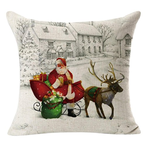 AIMTOPPY Christmas Throw Pillow Case Decorative Cushion Pillow Cover (Christmas Flannel Sheets compare prices)