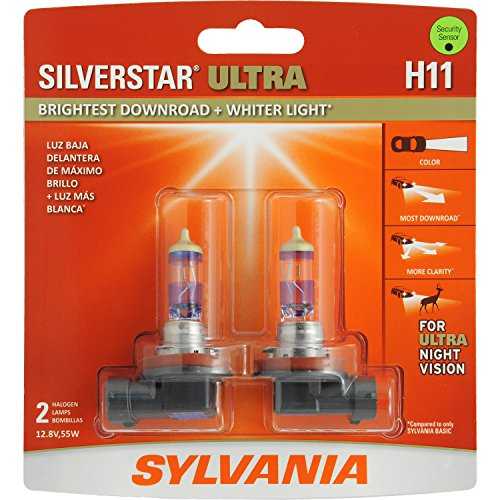 SYLVANIA H11 SilverStar Ultra High Performance Halogen Headlight Bulb, (Contains 2 Bulbs) (Toyota Yaris Performance Parts compare prices)