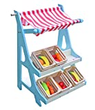 Cheerwing Home Grocery Market Fruits Stand Pretend Play Toys with Playtime Fruits and Vegetables