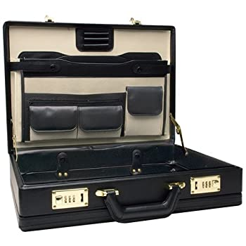 Set A Shopping Price Drop Alert For RoadPro CAP-003PM/BK Premium Black Leather-Like Expandable Briefcase