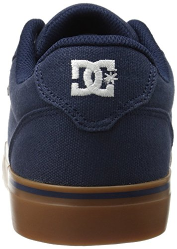 DC Men's Anvil TX Skate Shoe, Navy/Gum, 10 M US