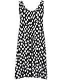 Ladies Famous Make Beach Dress. Black / White Spotted. Sizes 8 10 12 14 16 18 20 22 24