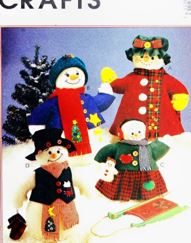 OOP McCall's Pattern 8387 or P321. Snowman Family & Clothes. 20