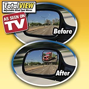 Amazon Com Total View 2 Set Adjustable Blind Spot Mirror