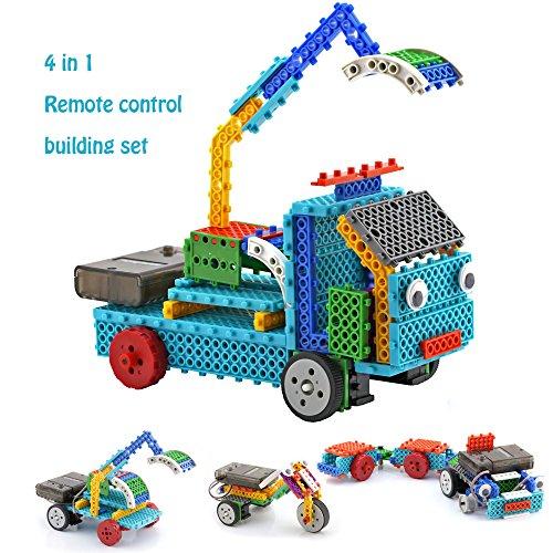 Remote Control Building Kits for Kids - RC Construction Set w/ 117PCS Building Blocks Build Your Own Remote Control Car (Remote Control Machines Kit compare prices)