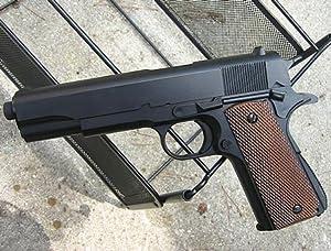 1911 SPRING/AIR HOP UP FULL MAG BB Airsoft Gun Black