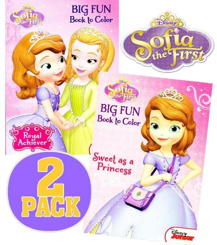 Disney® Sofia the First Coloring and Activity Book Set (2 Books ~ 96 pgs each) - 1