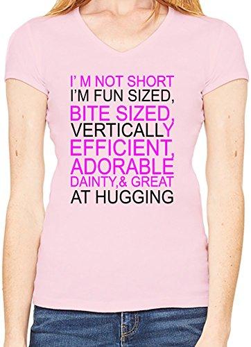 I'm Not Short I Am Fun Slogan Scollo a V T-shirt da donna XX-Large