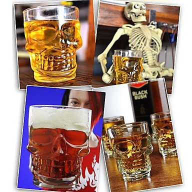 Tint Crystal Skull Shaped Beer Glass Glassware