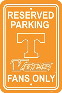 Buy NCAA Tennessee Volunteers 12-by-18 inch Plastic Parking Sign by BSI