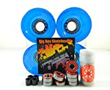 Big Boy 65mm Gel Solid Skateboard Wheels + ABEC 7 Bearings Spacers