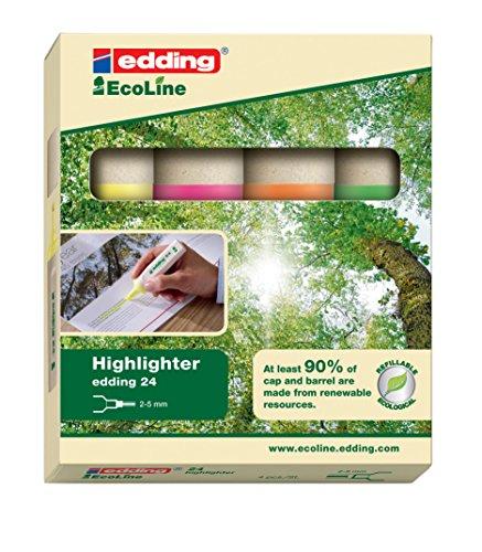 edding-4004764917723-estuche-de-4-marcadores-fluorescentes-reciclable-multicolor