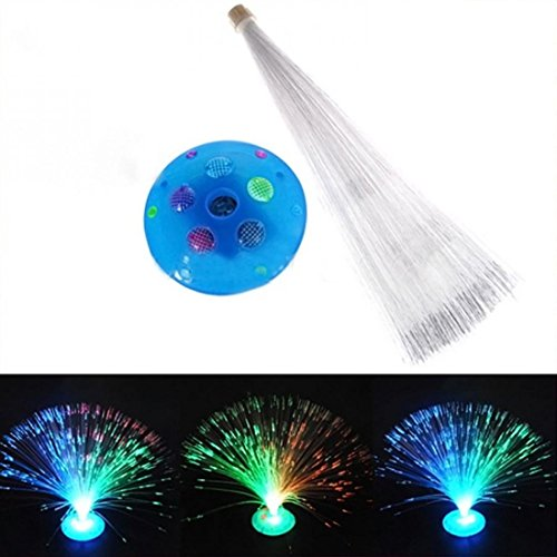 1Pc Exceptional Popular 8 Modes LED Nightlight Color Changing Fiber Optic Colorful Party Random Stand Color