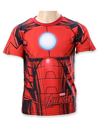 Marvel Avengers - T-shirt Maglietta Maniche Corte - Bambino - Iron Man - Novità Prodotto Originale 961-804 [Rosso - 12 anni - 152 cm]