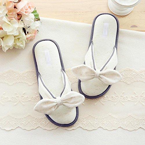 ZZHH pantofole di cotone Pantofole di cotone papillon bordo indoor pantofole antiscivolo vasca . b . 36-37