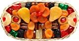 Broadway Basketeers Floral Dried Fruit Oval Gift Basket