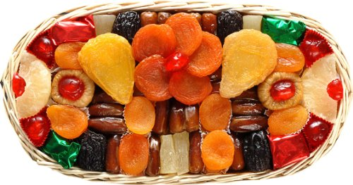 Broadway Basketeers Floral Dried Fruit Oval Gift