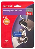 SanDisk Flash 8 GB Memory Stick PRO Duo Flash Memory Card SDMSPD-008G-B35,  ....