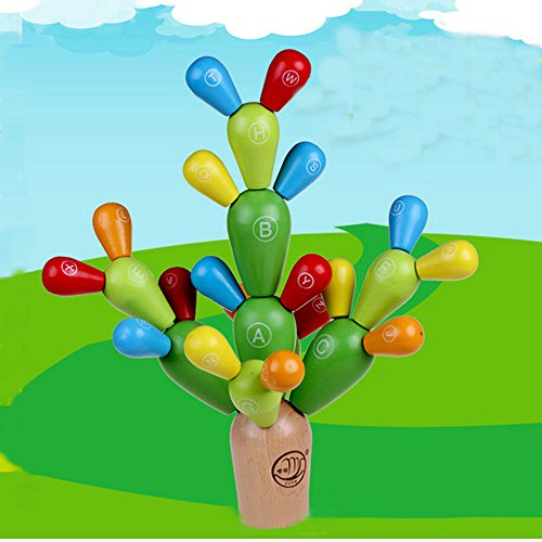 Wooden Cactus Educational Toys Disassembly Assembly English Alphabet Building Block Plants Tree Toy Set Home Decoration Toys Gift (Paint By Number Cactus compare prices)