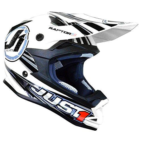 Just 1 606321018100403 j32 raptor casque casque de vélo-blanc-taille s :