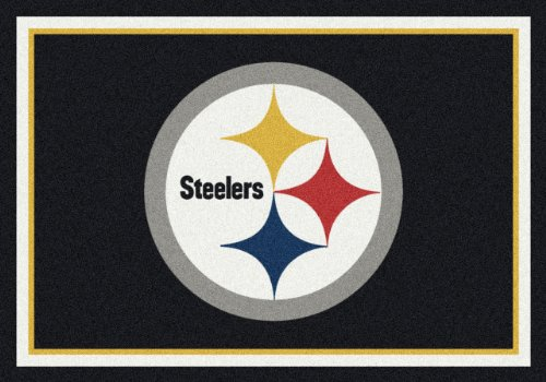 "NFL Team Spirit Novelty Rug Rug Size: 3'10"" x 5'4"", NFL Team: Pittsburgh Steelers at SteelerMania"
