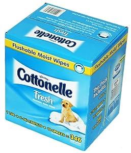 Cottonelle Flushable Moist Wipes Fresh 346 ct