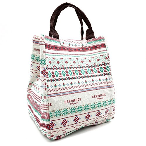 reusable-insulated-lunch-bag-tote-soft-cooler-carry-bag-for-travel-and-picnic-flower