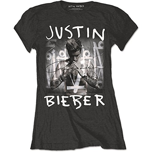 Ladies Justin Bieber Purpose Rock ufficiale Donne maglietta signore (Small)