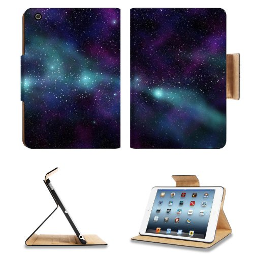 Galaxy Stars Universe Purple Space Apple Ipad Mini Flip Case Stand Smart Magnetic Cover Open Ports Customized Made To Order Support Ready Premium Deluxe Pu Leather 8 Inch (205Mm) X 5 1/2 Inch (140Mm) X 11/16 Inch (17Mm) Msd Ipad Mini Professional Ipadmini