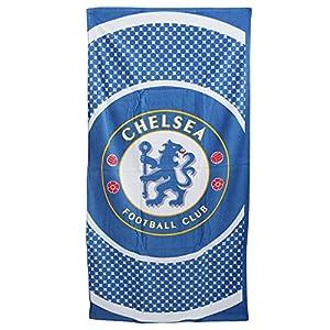 Chelsea 'Bullseye' Large Velour Beach Towel by Club Licensed