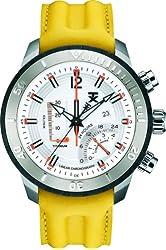 TX Men's T3C320 800 Series Linear Titanium Chronograph Dual-Time Zone Watch