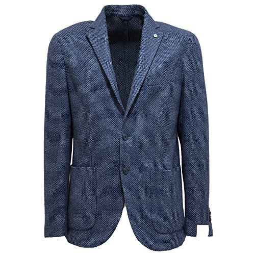 7513L giacca uomo blu L.B.M. 1911 tailored slim cotone lana jackets coats men [48 R]