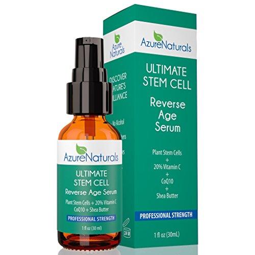 Azure Naturals - ULTIMATE STEM CELL Reverse Age Serum Plant Stem Cells + 20% Vitamin C + CoQ10 + Shea Butter (Azure Naturals compare prices)