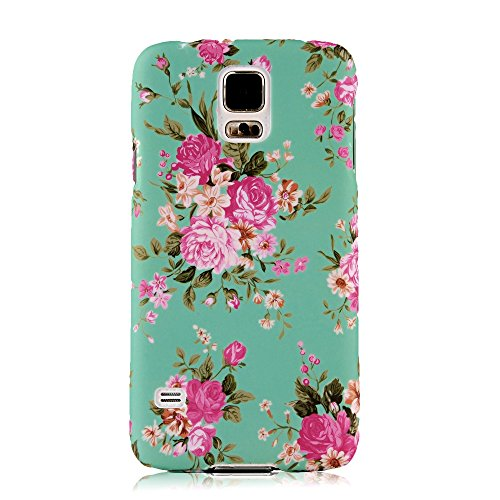 S5 Case, Galaxy S5 Case - Mollycoocle Fashion Style Colorful Painted Pattern Pc Hard Cover Case For Samsung Galaxy S5 I9600 Sm-G900A Sm-G900T Sm-G900P Sm-G900V Sm-G900R4 Developer Edition(Flowers)