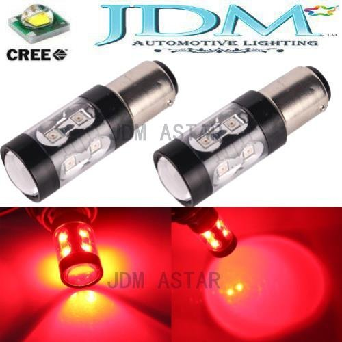 Jdm Astar Extremely Bright Max 50W High Power 1157 2057 2357 7528 Led Bulbs ,Brilliant Red