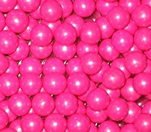 Bright Pink Shimmer Sixlets Candy 1LB Bag